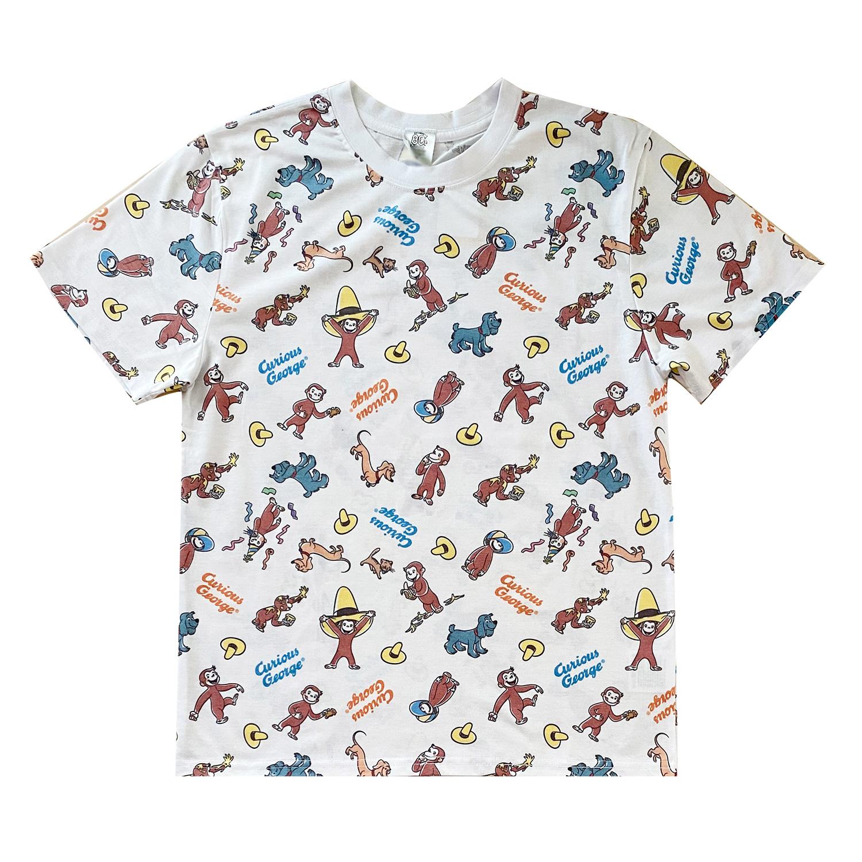 おさるのジョージ Tシャツ フレンズ パターン(L)