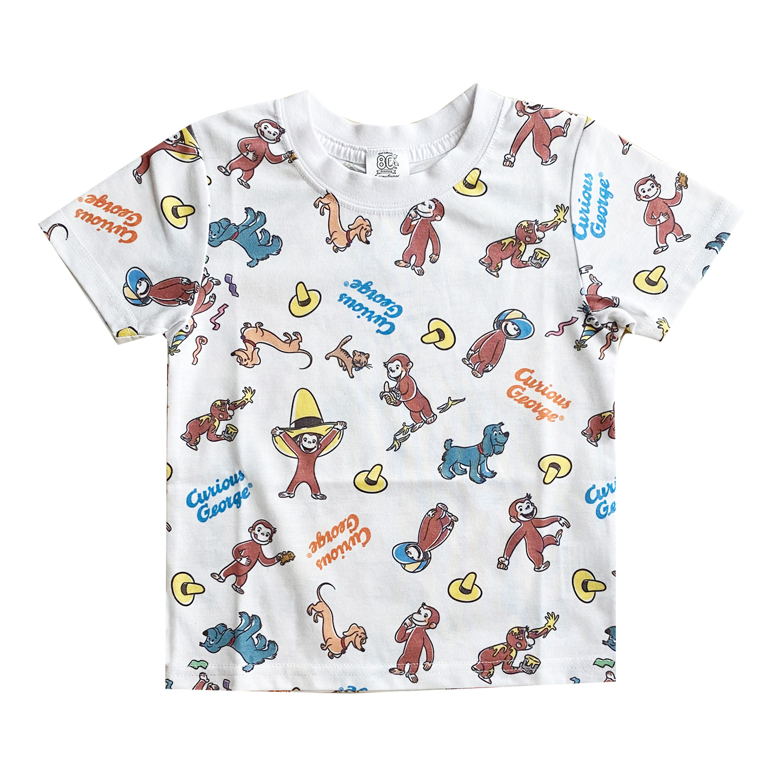 おさるのジョージ Tシャツ フレンズ パターン(キッズ130)