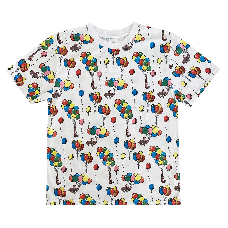 おさるのジョージ Tシャツ 風船 パターン(L)