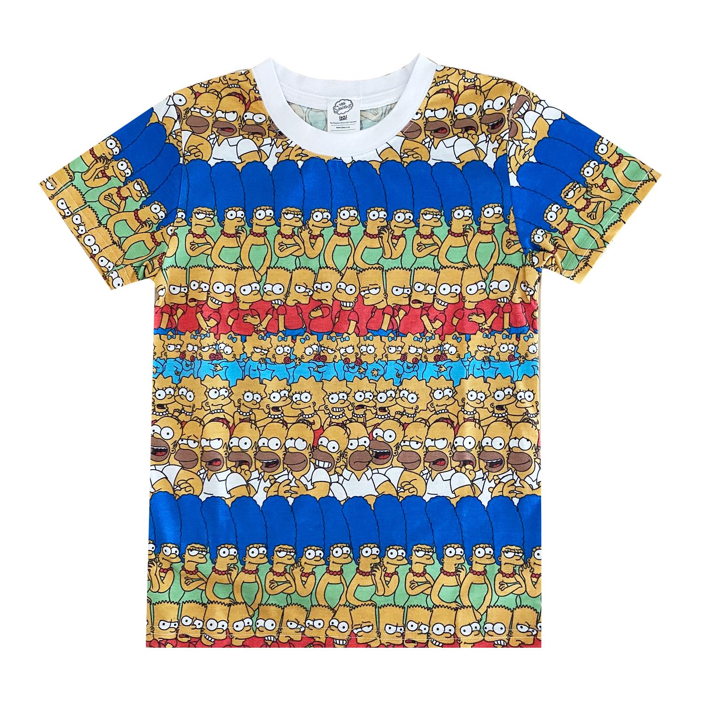 ザ・シンプソンズ/Tシャツ/ファミリー/パターン(キッズ110)