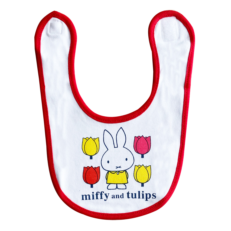 ディック・ブルーナ ベビービブ miffy and tulips チューリップWH
