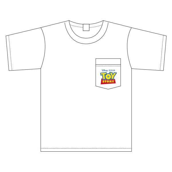 トイ・ストーリー/ワイドTシャツ/ワンポイント