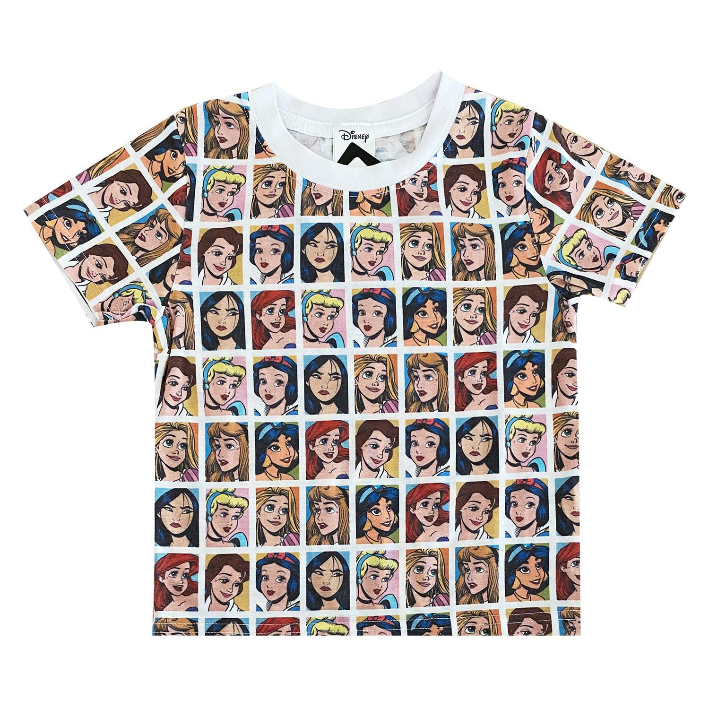 ディズニープリンセス/Tシャツ/フェイス/パターン(キッズ130)