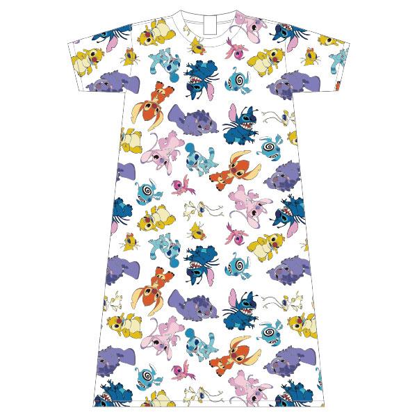 リロ&スティッチ/ロングTシャツ/エイリアン/パターン