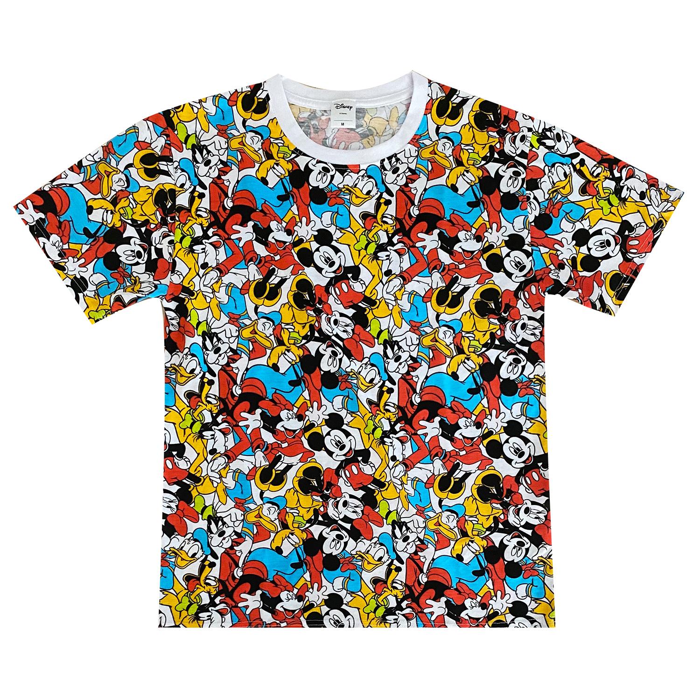 ミッキーマウス&フレンズ/Tシャツ/ぎっしり(M)