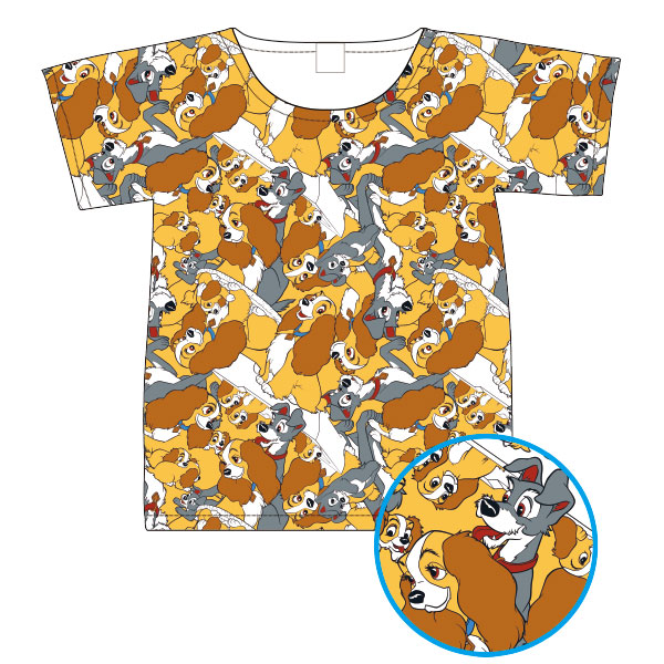 わんわん物語/Tシャツ/ぎっしり(L)
