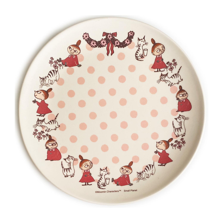 ムーミン バンブー食器 8インチプレート リトルミイと猫