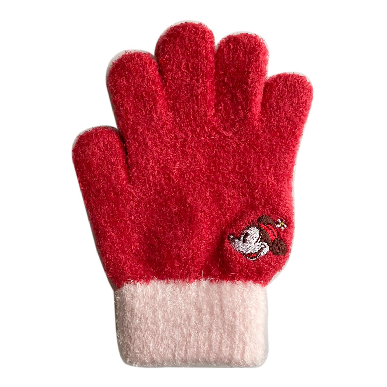 ミッキーマウス&フレンズ/ジュニア手袋/ミニーマウス/フェイス