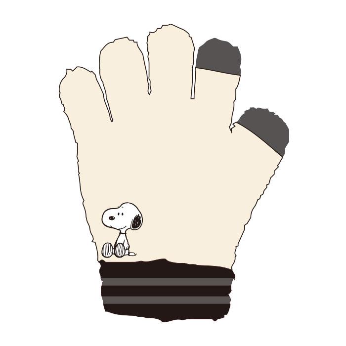 PEANUTS ジュニア手袋 おすわり