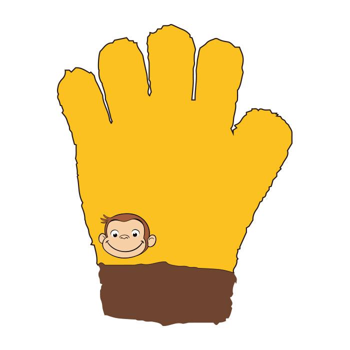 おさるのジョージ ジュニア手袋 フェイス