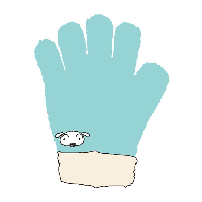 クレヨンしんちゃん ジュニア手袋 シロ