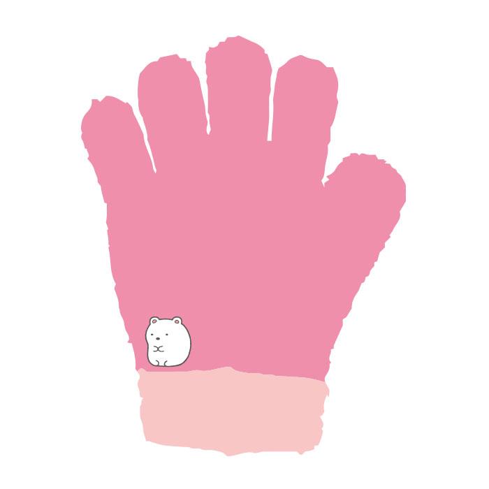 すみっコぐらし ジュニア手袋 しろくま