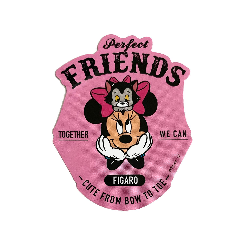 ミッキー&フレンズ/キャラクターステッカー/ミニーマウス/ロゴ