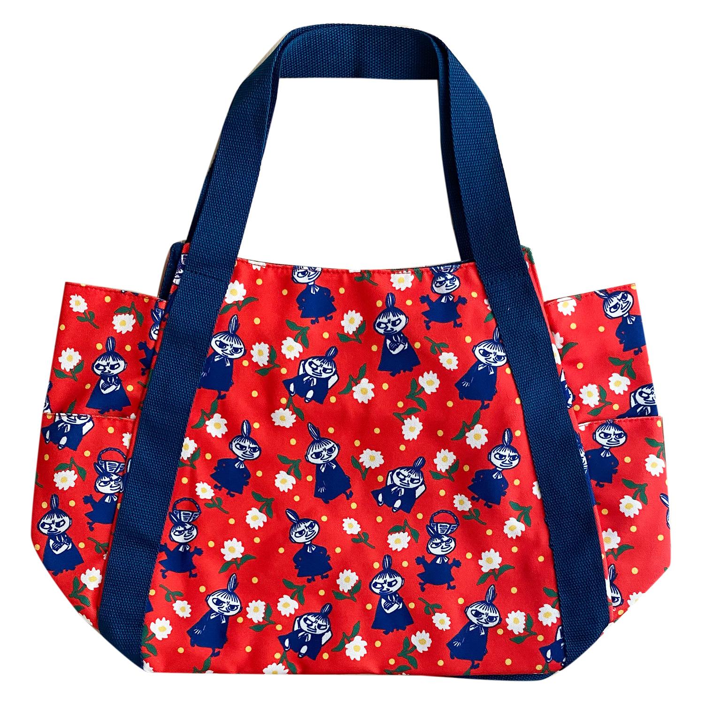 ムーミン  バルーンバッグ お花とリトルミイ パターン