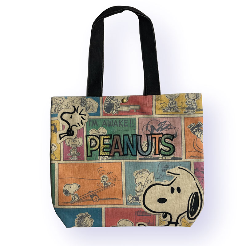 <Rendez-Vous>PEANUTS ヨコ型トートバッグ 70th フェイス