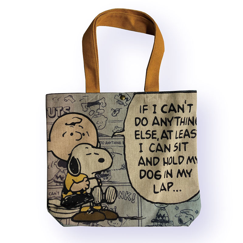 <Rendez-Vous>PEANUTS ヨコ型トートバッグ スヌーピー ラップトップ