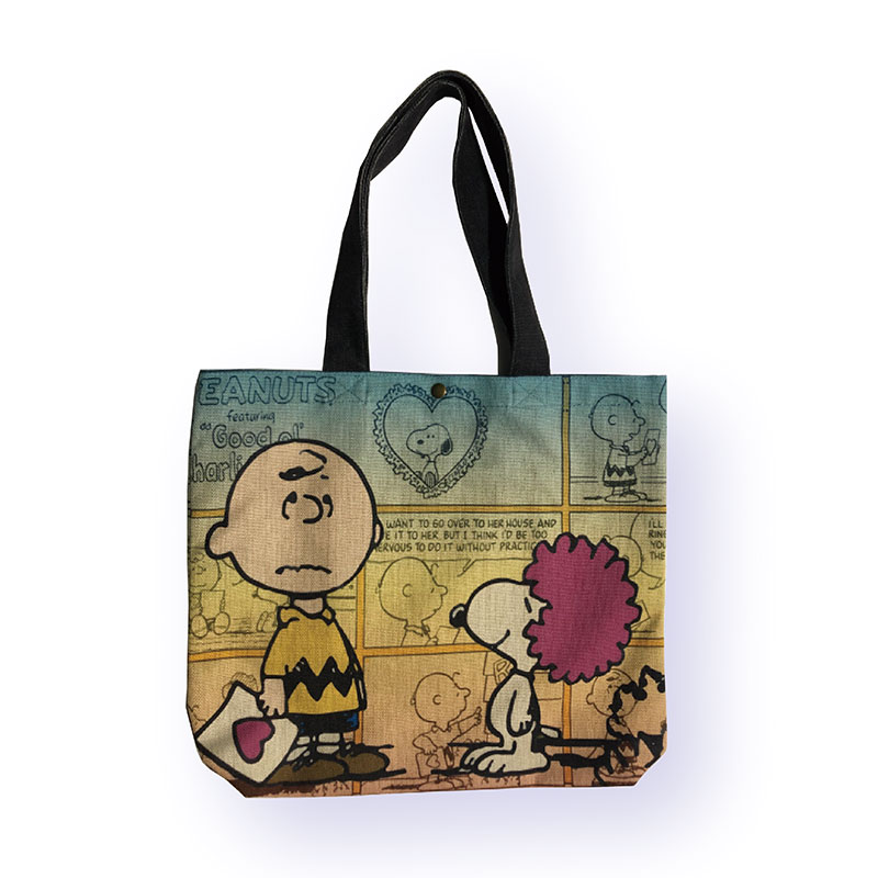 <Rendez-Vous>PEANUTS ヨコ型トートバッグ スヌーピー アフロ