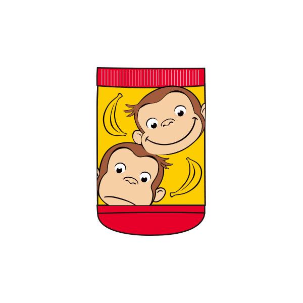 【ベビー】キャラックス おさるのジョージ フェイス&バナナ