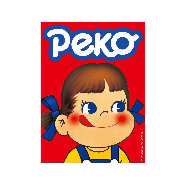 キャラクターステッカー ペコちゃん ロゴ
