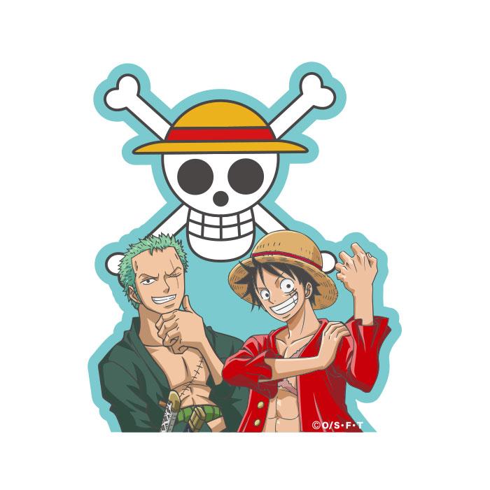 キャラクターステッカー ONE PIECE ルフィ&ゾロ