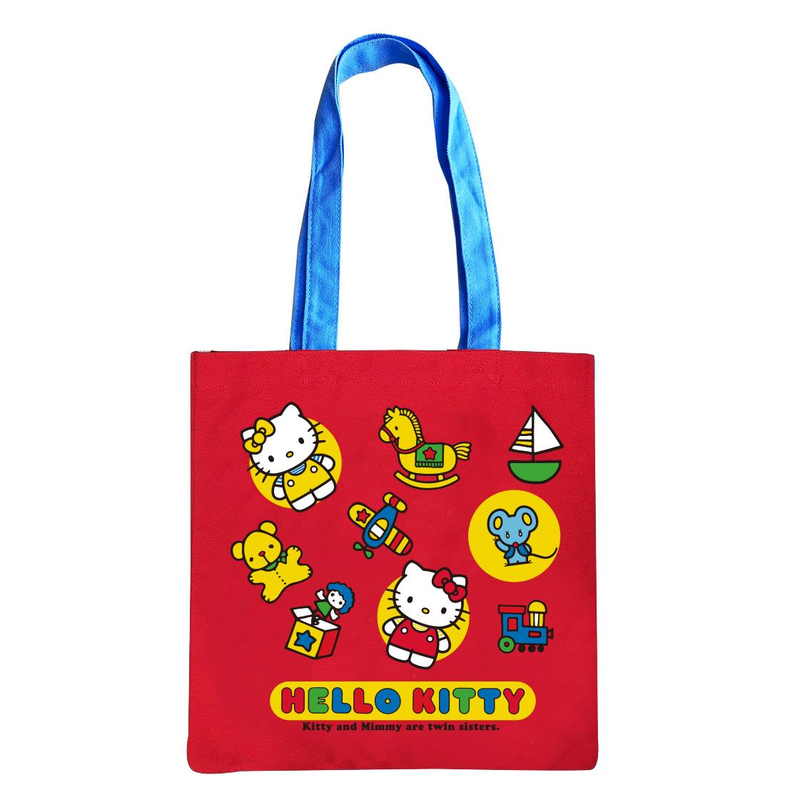 ハローキティ カラートートバッグ キティ&ミミィ