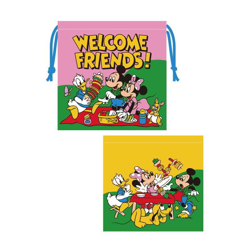 ミッキー&フレンズ/巾着/ピクニック