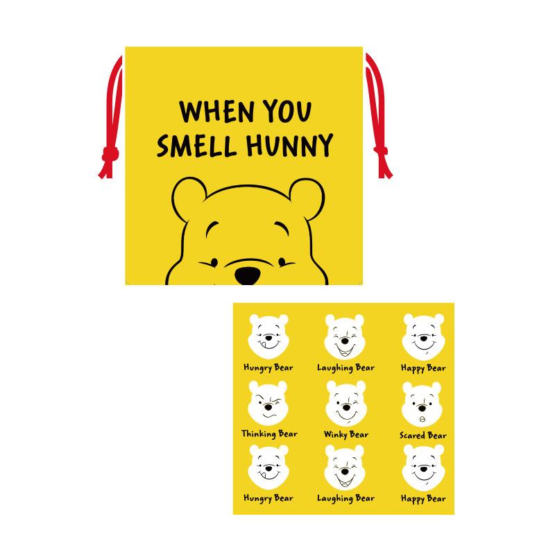 Winnie the Pooh/巾着/チップ&デール/プーさん/フェイス