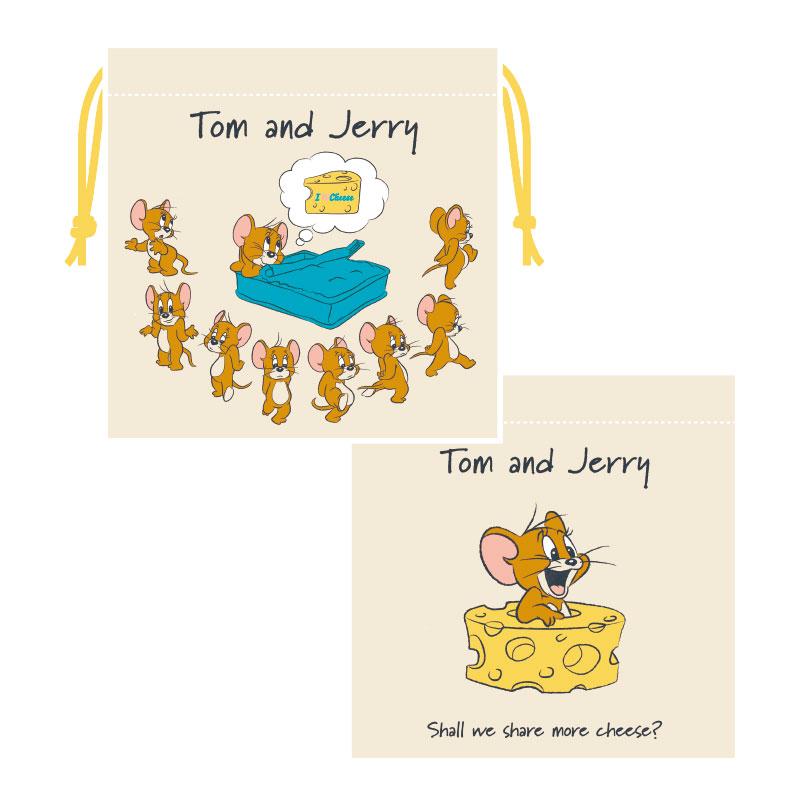 トムとジェリー 巾着 アイラブチーズ