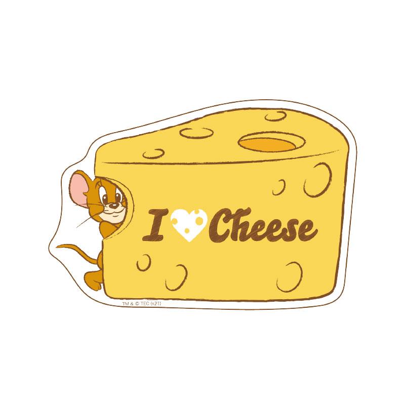 トムとジェリー ステッカー ジェリー アイラブチーズ