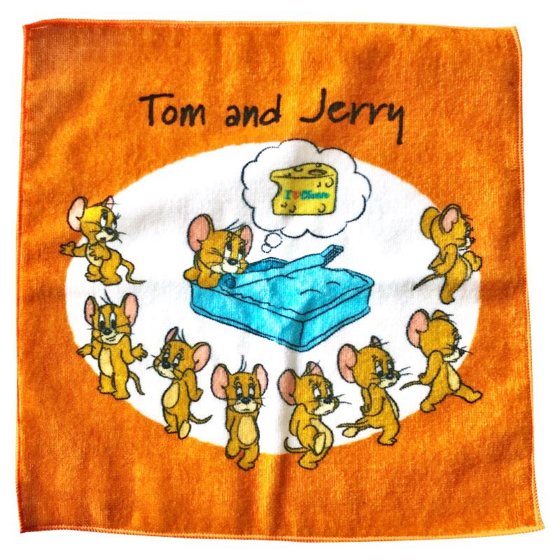 トムとジェリー ハンドタオル ジェリー アイラブチーズ