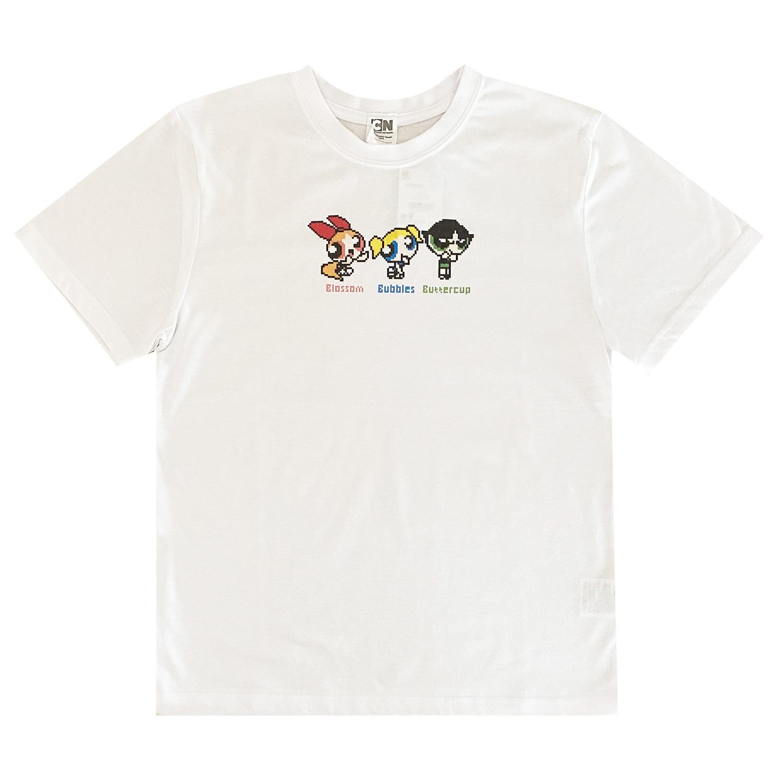 パワーパフ ガールズ Tシャツ 8bit(M)