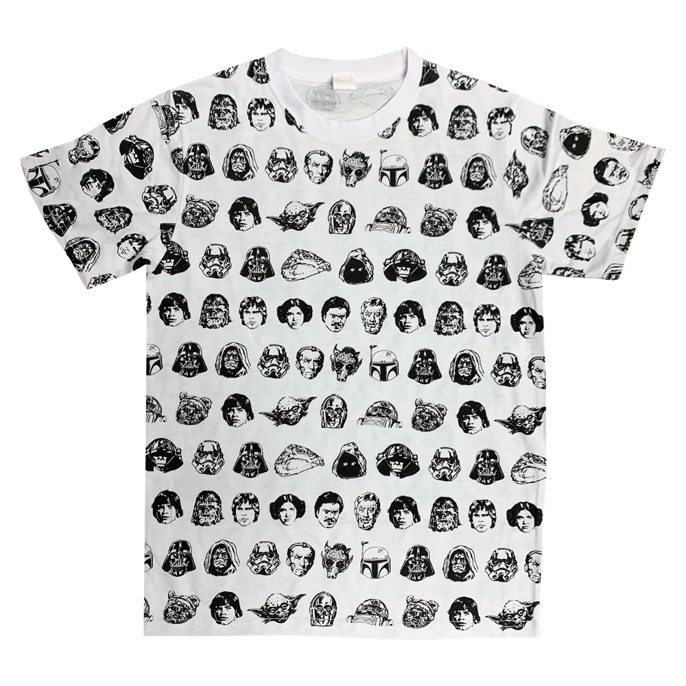 STAR WARS/Tシャツ/フェイス パターン(Mサイズ)