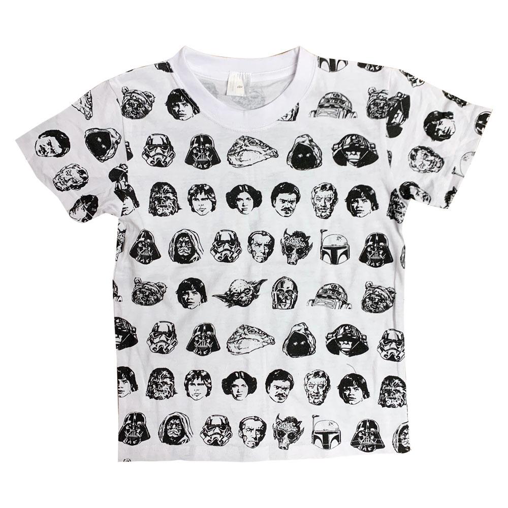 STAR WARS/Tシャツ/フェイス パターン(キッズ120)
